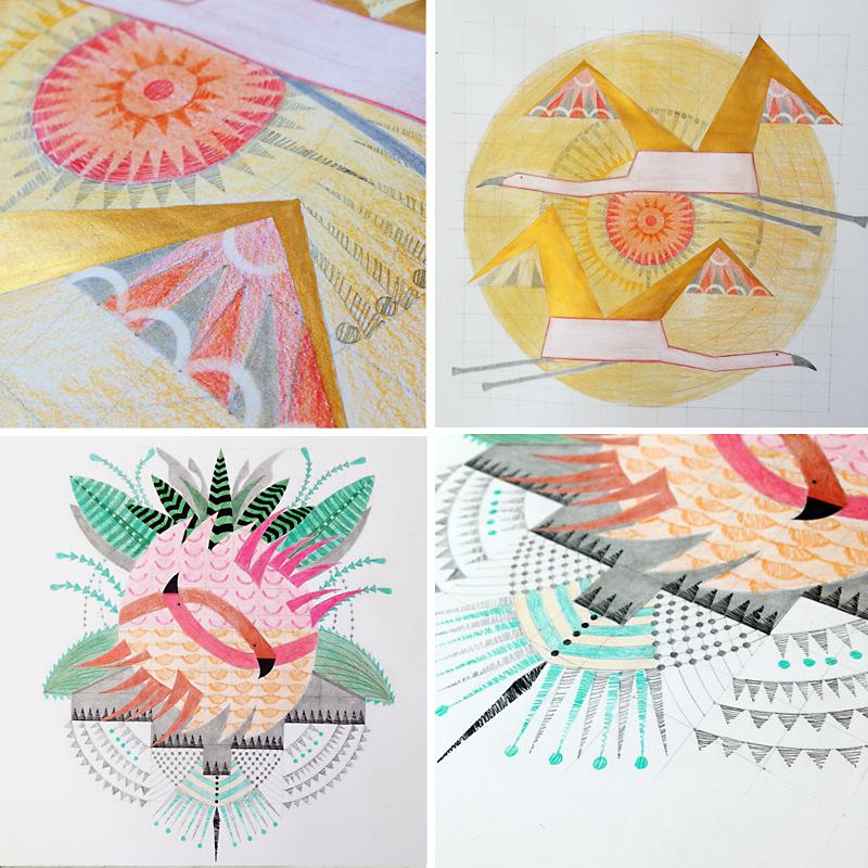 SteffiKalil_Artwork_Flamingos